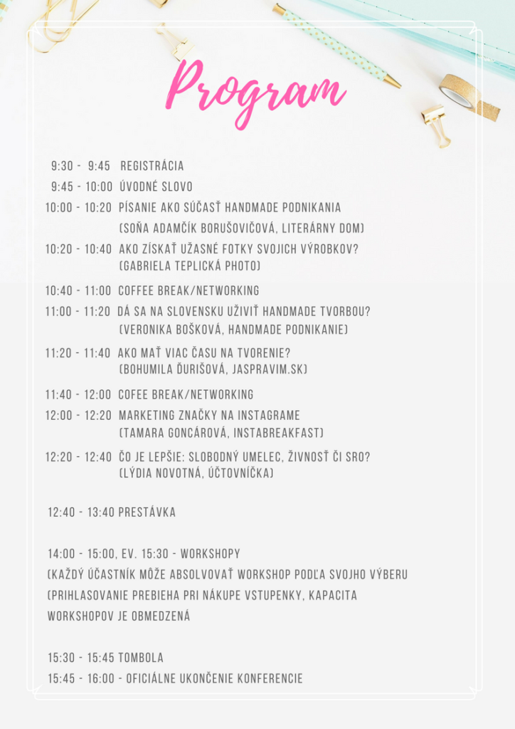 konferenčný program